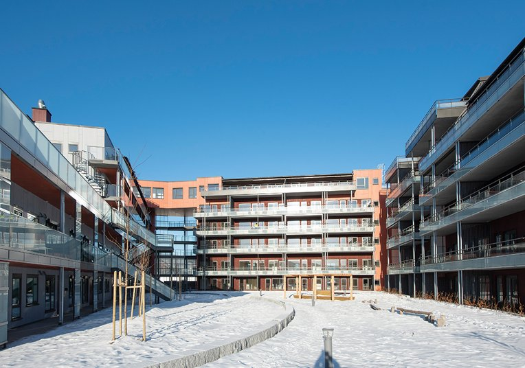 Mosenteret og Sentrum Terrasse i Nittedal - Segatech Rekkverk